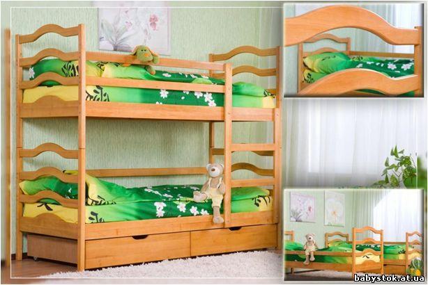 Двухъярусная кровать деревянная