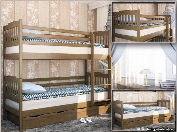 Двухъярусная кровать деревянная мева